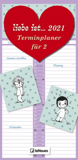 liebe ist… Terminplaner für 2 2021 – Familien-Timer – Termin-Planer – Kinder-Kalender – Familien-Kalender – 22×45 von Casali,  Kim