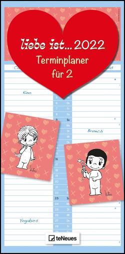 liebe ist… Terminplaner für 2 2022 – Familien-Timer – Termin-Planer – Kinder-Kalender – Familien-Kalender – 22×45 von Casali,  Kim