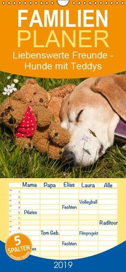 Liebenswerte Freunde – Hunde mit Teddys – Familienplaner hoch (Wandkalender 2019 , 21 cm x 45 cm, hoch) von Bölts,  Meike