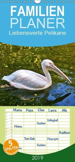 Liebenswerte Pelikane – Familienplaner hoch (Wandkalender 2019 , 21 cm x 45 cm, hoch) von kattobello