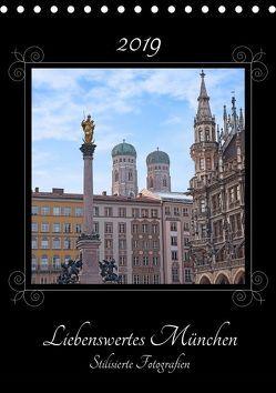 Liebenswertes München, stilisierte Fotografien (Tischkalender 2019 DIN A5 hoch) von SusaZoom