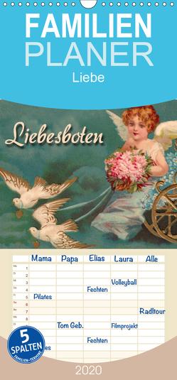 Liebesboten – Familienplaner hoch (Wandkalender 2020 , 21 cm x 45 cm, hoch) von Berg,  Martina