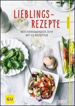 Lieblingsrezepte – Wochenkalender 2019 – Küchen-Kalender mit 53 Blatt – Format 21,0 x 29,7 cm – Spiralbindung von DUMONT Kalenderverlag