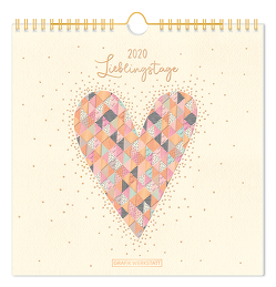 """Lieblingsstücke-Kalender 2020 """"Lieblingstage"""""""