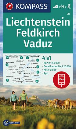KOMPASS Wanderkarte Liechstenstein, Feldkirch, Vaduz von KOMPASS-Karten GmbH