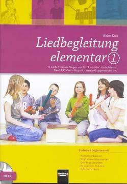 Liedbegleitung elementar 1. Heft und DVD von Kern,  Walter
