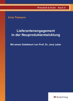 Lieferantenengagement in der Neuproduktentwicklung von Tiemann,  Irina
