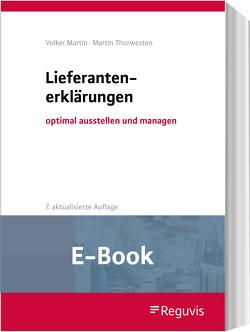Lieferantenerklärungen (E-Book) von Martin,  Volker, Thorwesten,  Martin