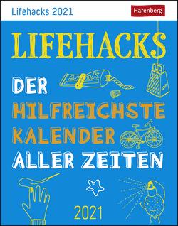 Lifehacks Kalender 2021 von Artel,  Ann Christin, Harenberg, Stein,  Martina