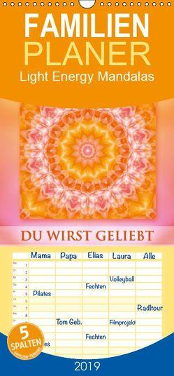 Light Energy Mandalas – Kalender – Vol. 1 – Familienplaner hoch (Wandkalender 2019 , 21 cm x 45 cm, hoch) von Shayana Hoffmann,  Gaby