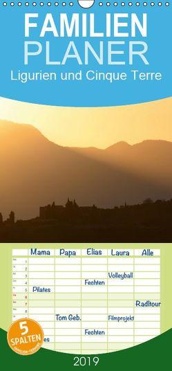 Ligurien und Cinque Terre – Familienplaner hoch (Wandkalender 2019 , 21 cm x 45 cm, hoch) von Heinemann,  Holger