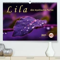 Lila – die mystische Farbe (Premium, hochwertiger DIN A2 Wandkalender 2021, Kunstdruck in Hochglanz) von Roder,  Peter