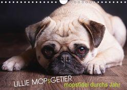 Lillie Mopsgetier – mopsfidel durchs Jahr (Wandkalender 2018 DIN A4 quer) von Raab,  Martina