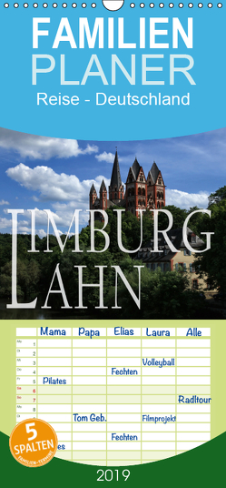 LIMBURG a.d. LAHN – Familienplaner hoch (Wandkalender 2019 , 21 cm x 45 cm, hoch) von P.Bundrück