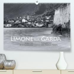 Limone sul Garda schwarzweiß (Premium, hochwertiger DIN A2 Wandkalender 2020, Kunstdruck in Hochglanz) von Herzog,  Thomas, www.bild-erzaehler.com