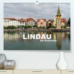 Lindau am Bodensee (Premium, hochwertiger DIN A2 Wandkalender 2021, Kunstdruck in Hochglanz) von Schickert,  Peter