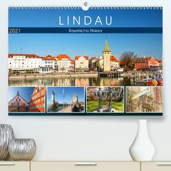 Lindau – Bayerische Riviera (Premium, hochwertiger DIN A2 Wandkalender 2021, Kunstdruck in Hochglanz) von by Sylvia Seibl,  CrystalLights