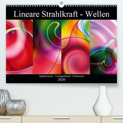 Lineare Strahlkraft – Wellen, Digitale Kunst (Premium, hochwertiger DIN A2 Wandkalender 2020, Kunstdruck in Hochglanz) von ClaudiaG