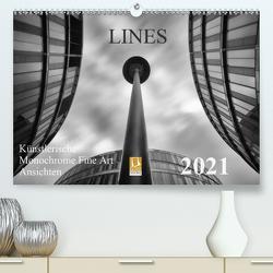 LINES – Künstlerische Monochrome Fine Art Ansichten (Premium, hochwertiger DIN A2 Wandkalender 2021, Kunstdruck in Hochglanz) von Will,  Thomas