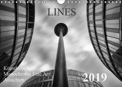 LINES – Künstlerische Monochrome Fine Art Ansichten (Wandkalender 2019 DIN A4 quer) von Will,  Thomas