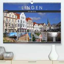 LINGEN an der Ems (Premium, hochwertiger DIN A2 Wandkalender 2021, Kunstdruck in Hochglanz) von SchnelleWelten