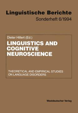 Linguistics and Cognitive Neuroscience von Hillert,  Dieter