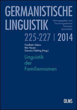 Linguistik der Familiennamen von Debus,  Friedhelm, Heuser,  Rita, Nübling,  Damaris