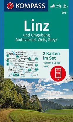 Linz und Umgebung, Mühlviertel, Wels, Steyr von KOMPASS-Karten GmbH
