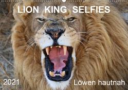 LION KING SELFIES Löwen hautnah (Wandkalender 2021 DIN A2 quer) von Fraatz,  Barbara