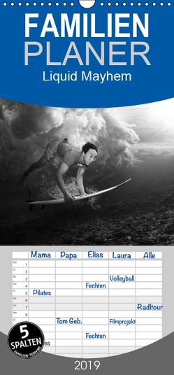 Liquid Mayhem – Surf- und Unterwasser- Aufnahmen – Familienplaner hoch (Wandkalender 2019 , 21 cm x 45 cm, hoch) von Fox,  Andy