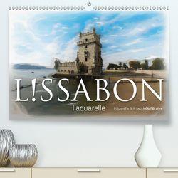 Lissabon l'aquarelle (Premium, hochwertiger DIN A2 Wandkalender 2020, Kunstdruck in Hochglanz) von Bruhn,  Olaf