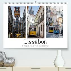 Lissabon – Straßen- & Standseilbahnen (Premium, hochwertiger DIN A2 Wandkalender 2021, Kunstdruck in Hochglanz) von Herm,  Olaf