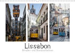 Lissabon – Straßen- & Standseilbahnen (Wandkalender 2021 DIN A3 quer) von Herm,  Olaf