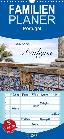 Lissabons Azulejos – Familienplaner hoch (Wandkalender 2020 , 21 cm x 45 cm, hoch) von Rütten,  Kristina