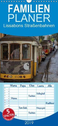 Lissabons Straßenbahnen – Familienplaner hoch (Wandkalender 2019 , 21 cm x 45 cm, hoch) von Bangert,  Mark