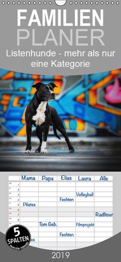 Listenhunde – mehr als nur eine Kategorie – Familienplaner hoch (Wandkalender 2019 , 21 cm x 45 cm, hoch) von Wobith Photography,  Sabrina