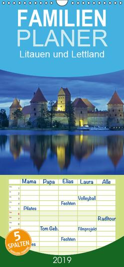 Litauen und Lettland – Familienplaner hoch (Wandkalender 2019 , 21 cm x 45 cm, hoch) von Hanke,  Matthias