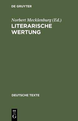 Literarische Wertung von Mecklenburg,  Norbert