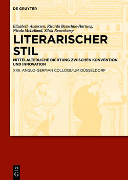 Literarischer Stil von Andersen,  Elizabeth, Bauschke-Hartung,  Ricarda, Reuvekamp,  Silvia