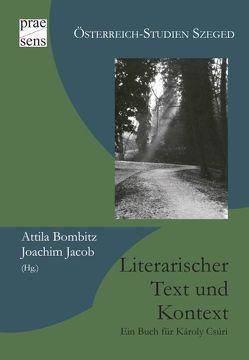 Literarischer Text und Kontext von Bombitz,  Attila, Jacob,  Joachim