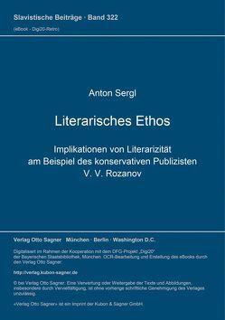 Literarisches Ethos von Sergl,  Anton