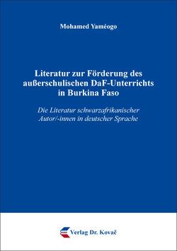 Literatur zur Förderung des außerschulischen DaF-Unterrichts in Burkina Faso von Yaméogo,  Mohamed