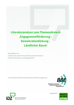 Literaturanalyse zum Themendreieck 'Engagementförderung – Demokratiestärkung – Ländlicher Raum'