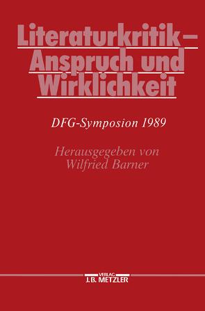 Literaturkritik – Anspruch und Wirklichkeit von Barner,  Wilfried