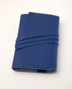 LITERAturtasche M blau | Buchhülle aus Leder