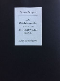 Lob des Kalauers und andere Für- und Widerreden von Biskupek,  Matthias, Dwars,  Jens F