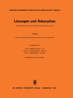 Lösungen und Adsorption von Lagaly,  G.