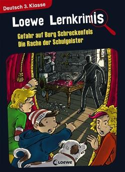 Loewe Lernkrimis – Gefahr auf Burg Schreckenfels / Die Rache der Schulgeister von Neubauer,  Annette, Pfeiffer,  Peter
