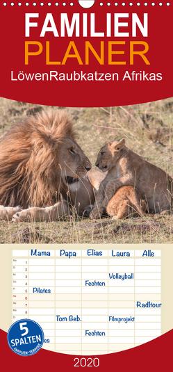 Löwen – Raubkatzen Afrikas – Familienplaner hoch (Wandkalender 2020 , 21 cm x 45 cm, hoch) von Lippmann,  Andreas