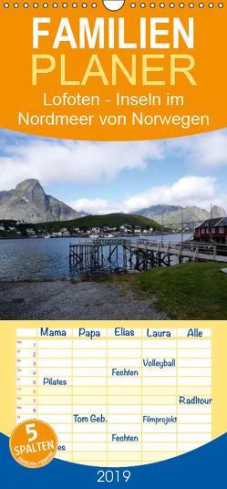 Lofoten – Inseln im Nordmeer von Norwegen – Familienplaner hoch (Wandkalender 2019 , 21 cm x 45 cm, hoch) von Bussenius,  Beate
